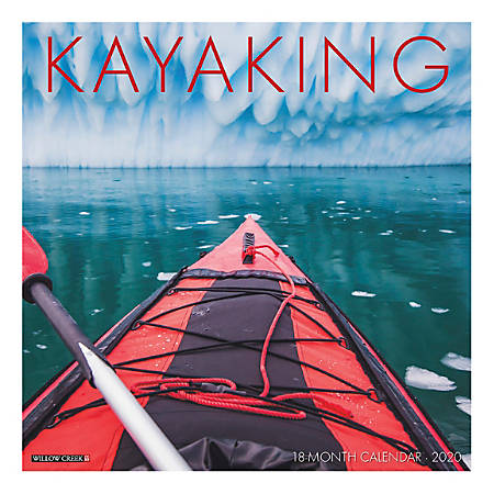 """Willow Creek Press Sports Monthly Wall Calendar, 12"""" x 12"""", Kayaking, January To December 2020"""