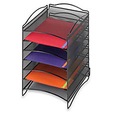 Safco Onyx 6 Compartment Mesh Literature