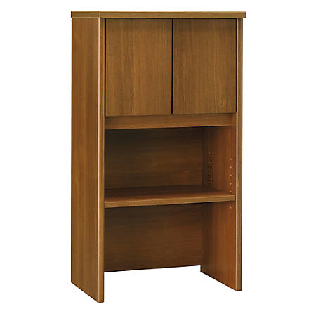 "Bush Business Furniture Components Hutch 24""W, Warm Oak, Premium Installation"
