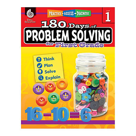 Shell Education 180 Days Of Problem Solving, Grade 1