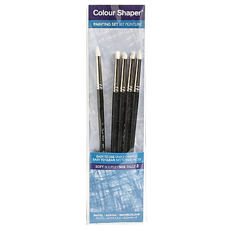 Colour Shaper Painting And Pastel Blending Tools, No. 2, Assorted Soft, Black, Set Of 5