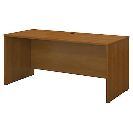 "Bush Business Furniture Components Credenza Desk 60""W x 24""D, Warm Oak, Premium Installation"