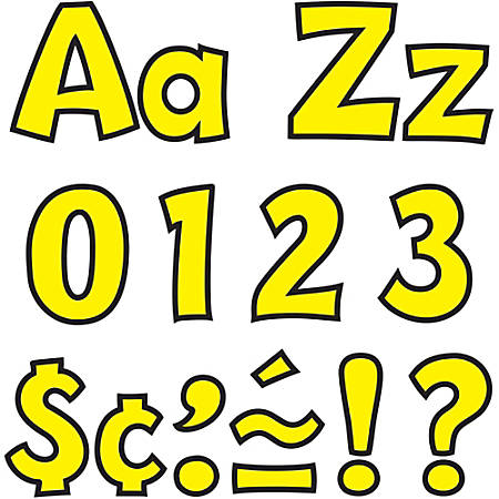 """Trend® Ready Letters® 4"""" Letters, Playful Combo, Yellow, Pack Of 70"""
