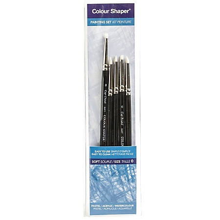 Colour Shaper Painting And Pastel Blending Tools, No. 0, Assorted Soft, Black, Set Of 5