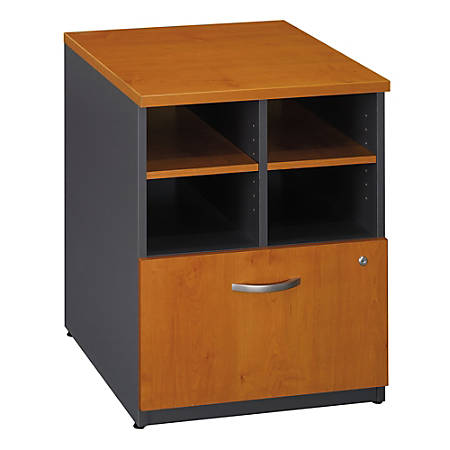 "Bush Business Furniture Components Storage Cabinet, 24""W, Natural Cherry/Graphite Gray, Premium Installation"