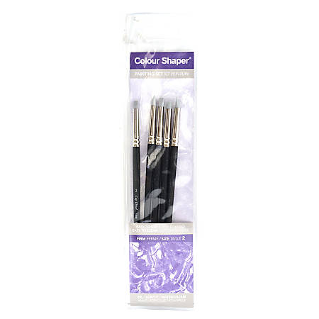 Colour Shaper Painting And Pastel Blending Tools, No. 2, Assorted Firm, Black, Set Of 5