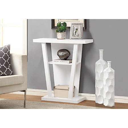Fine Monarch Specialties Hall Accent Table Trapezoid White Item 890933 Interior Design Ideas Inesswwsoteloinfo