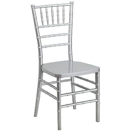 Flash Furniture HERCULES PREMIUM Series Stacking Chiavari Chair, Silver