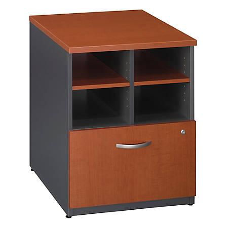 "Bush Business Furniture Components Storage Cabinet, 24""W, Auburn Maple/Graphite Gray, Premium Installation"