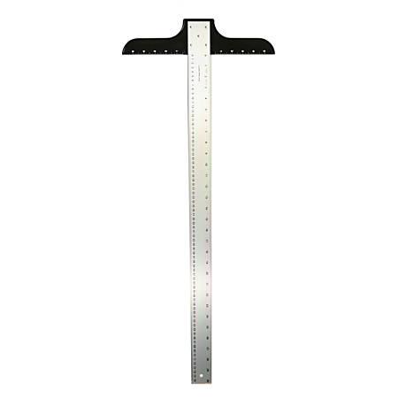 """Ludwig Precision Aluminum T-Square, 2"""" x 36"""", Heavy-Duty"""