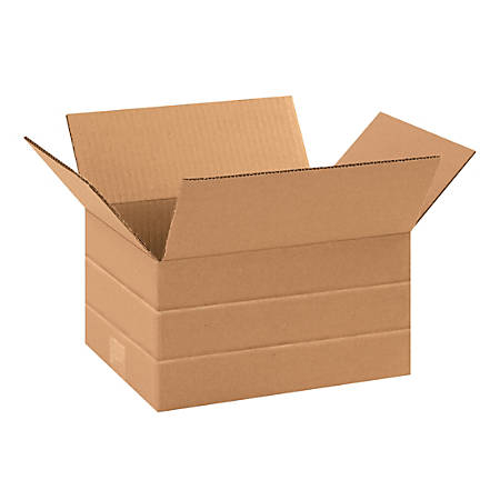 "Office Depot® Brand Multi-Depth Corrugated Boxes, 10"" x 8"" x 6"", Kraft, Bundle Of 25 Boxes"