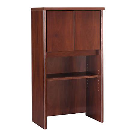 """Bush Business Furniture Components Hutch 24""""W, Hansen Cherry, Premium Installation"""