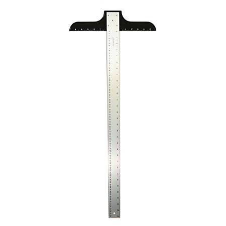 """Ludwig Precision Aluminum T-Square, 2"""" x 30"""", Heavy-Duty"""