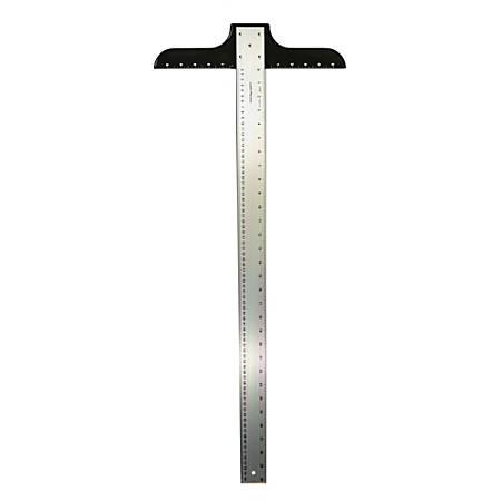 """Ludwig Precision Aluminum T-Square, 2"""" x 42"""", Heavy-Duty"""