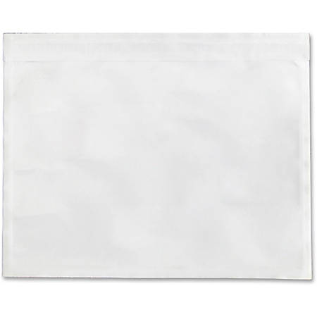 "Sparco Plain Back 5.5"" Waterproof Envelopes - Packing List - 5 1/2"" Width x 4 1/2"" Length - Self-adhesive Seal - Low Density Polyethylene (LDPE) - 1000 / Box - White"