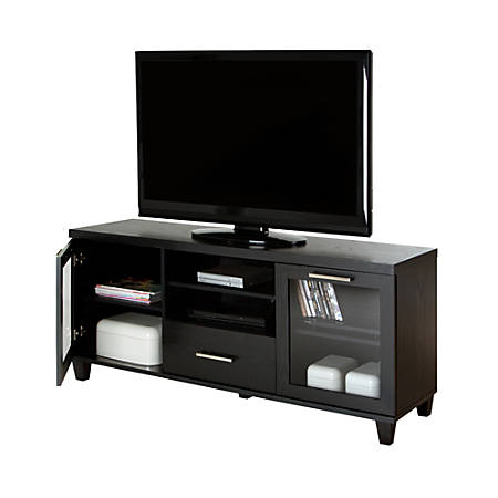 "South Shore Adrian TV Stand For TVs Up To 60"", Black Oak"