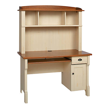Realspace Shore Mini Solutions Computer Desk - Realspace Shore Mini Solutions Computer Desk With Hutch Antique