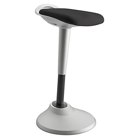 basyx by HON® Perch Hybrid Seating Chair/Stool, Black/Silver