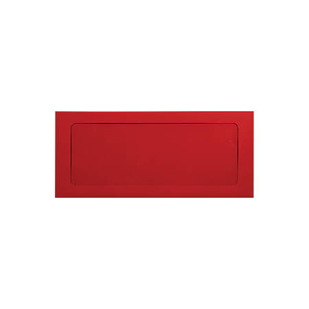 "LUX Full-Face Window Envelopes With Peel & Press Closure, #10, 4 1/8"" x 9 1/2"", Ruby Red, Pack Of 50"