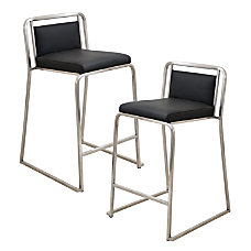 LumiSource Cascade Counter Stools BlackStainless Steel