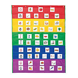 Learning Resources Rainbow Pocket Chart 33