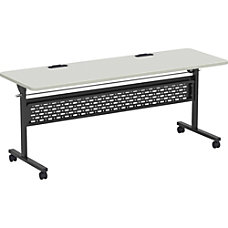 Lorell Flip Top Training Table Gray