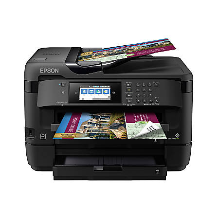 "Epson® WorkForce® WF-7720 Wireless Color 19"" Inkjet Wide-Format All-In-One Printer, Scanner, Copier, Fax, C11CG37201"