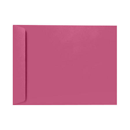 "LUX Open-End Envelopes With Peel & Press Closure, 9"" x 12"", Magenta, Pack Of 50"