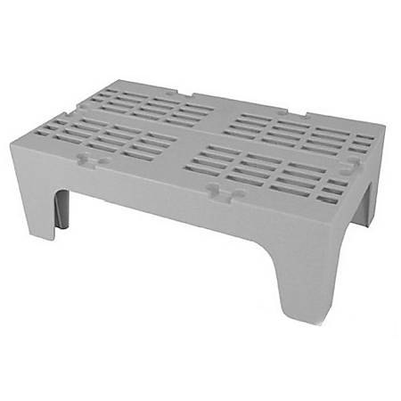 "Cambro Plastic Dunnage Rack, 12""H x 30""W x 21""D, Gray"