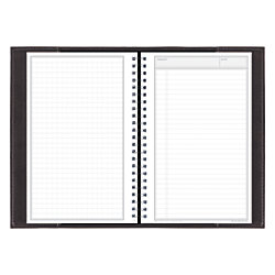 "Blue Sky™ Wire-O Recycled Journal, 5 1/2"" x 8"", Black"