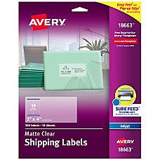 Avery Easy Peel Clear Inkjet Shipping