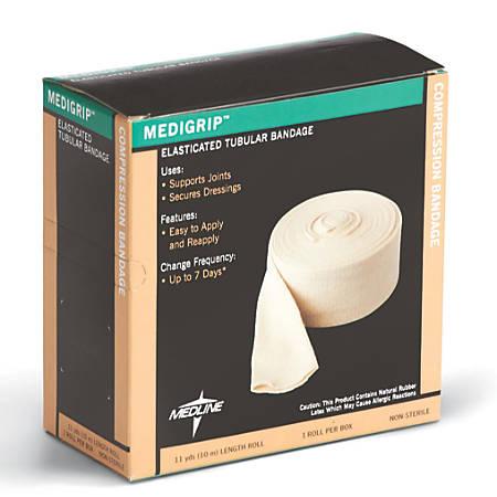 Medline Medigrip Tubular Bandage Roll, Size D, Off White