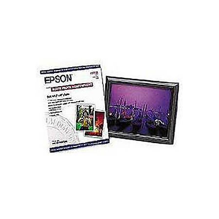 "Epson® Very High Resolution Print Paper, 8"" x 10"", 97 (U.S.) Brightness, Ream Of 50 Sheets"
