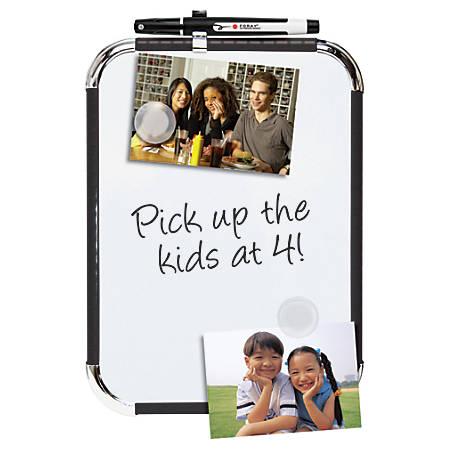 "FORAY™ Magnetic Dry-Erase Board, 8 1/2"" x 11"", White Board, Black Plastic Frame"