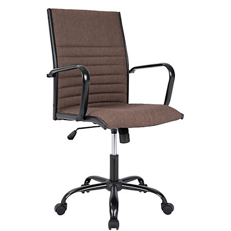 LumiSource Masters Contemporary Mid-Back Chair, Brown/Black