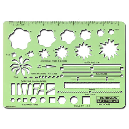 rapidesign landscape drafting and design template by office depot