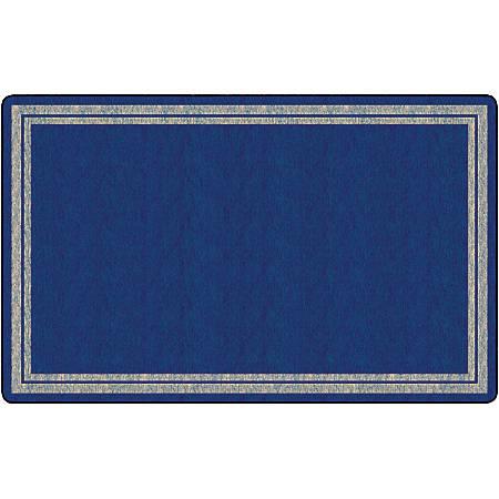 "Flagship Carpets Double-Border Rectangular Rug, 90"" x 144"", Light Blue"