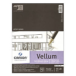 Canson Vidalon Tracing Vellum Pad 9