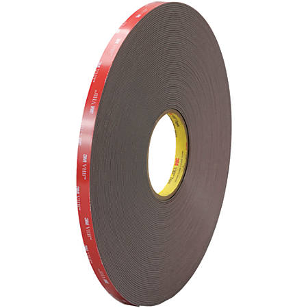 "3M™ VHB™ 4947F Tape, 1.5"" Core, 0.5"" x 5 Yd., Black"