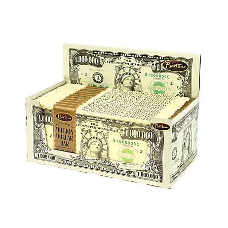 Bartons Million Dollar Chocolate Bars, Milk Chocolate, 2 Oz, 12 Per Box, Pack Of 2 Boxes
