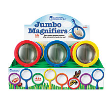 Learning Resources Jumbo Magnifiers 45x Assorted