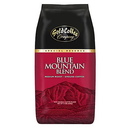 Gold Coffee Company Blue Mountain Blend Ground Coffee, 32 Oz