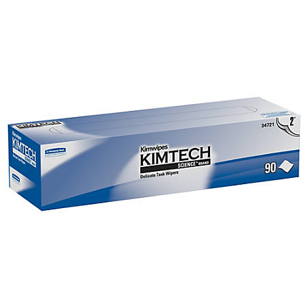 """KIMTECH Delicate Task Wipers - 2 Ply - 14.70"""" x 16.60"""" - White - Soft, Absorbent - 15 / Carton"""