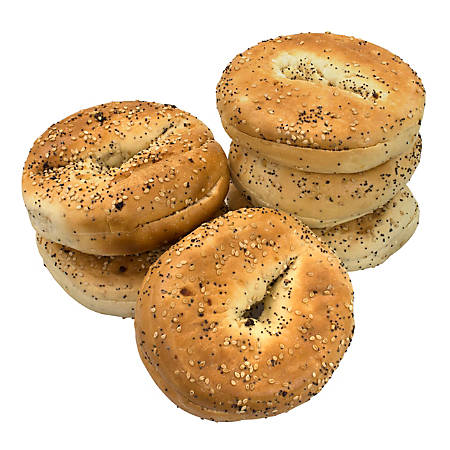 National Brand Fresh Everything Bagels, Pack Of 6 Bagels