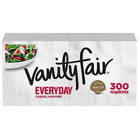 "Vanity Fair® 2-Ply Everyday Napkins, 13"" x 6"", White, Pack Of 300 Napkins"