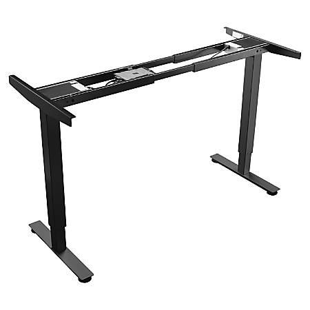 Lorell® Quadro Electric Sit-To-Stand Desk Base, Narrow Feet, Black
