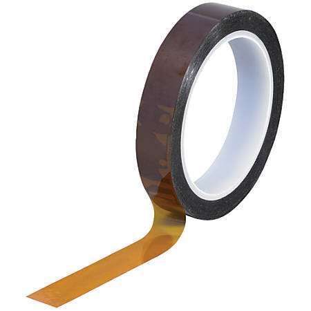 "Kapton® Sealing Tape, 3"" Core, 0.75"" x 108', 1 mil, Amber"
