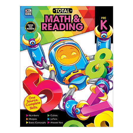 Thinking Kids® Total Math And Reading, Grade Pre-K