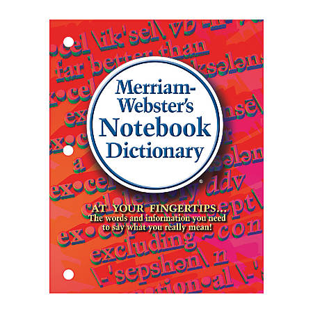 Merriam-Webster's Notebook Dictionary, Pack Of 3