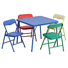 Flash Furniture Kids Colorful Folding Square